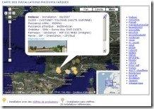 Copie écran - Carte des installations
